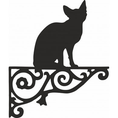 Sphynx Sitting Ornamental Metal Hanging Bracket - Attractive Metal Designs