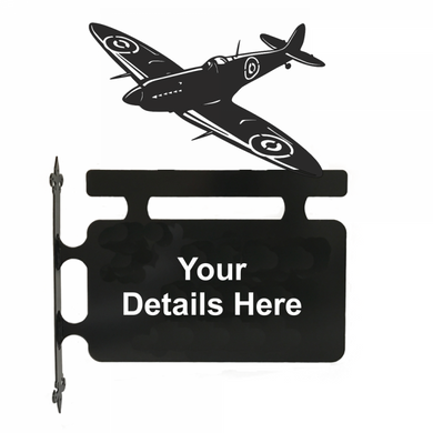 Spitfire Hanging Sign - Attractive Metal Designs