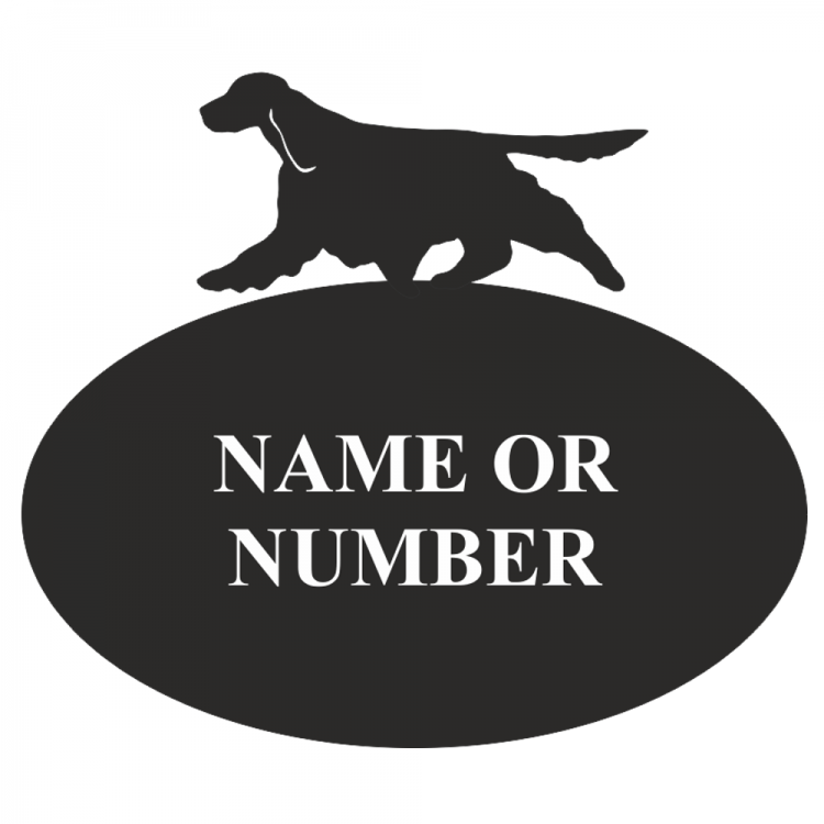 Springer Spaniel Decorative Metal Oval House Plaque - Attractive Metal Designs
