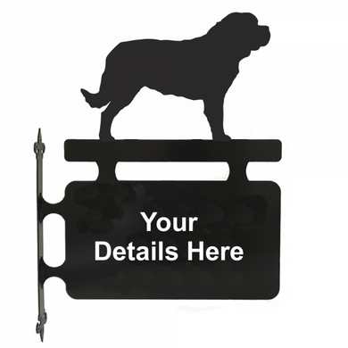 St Bernard Hanging Sign - Attractive Metal Designs