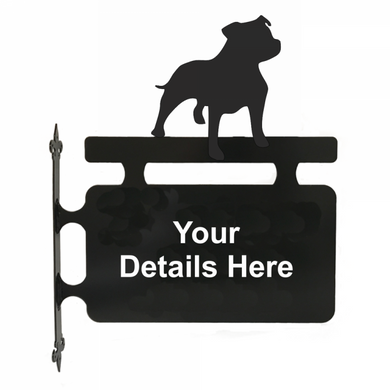 Staffordshire Bull Terrier Hanging Sign - Attractive Metal Designs