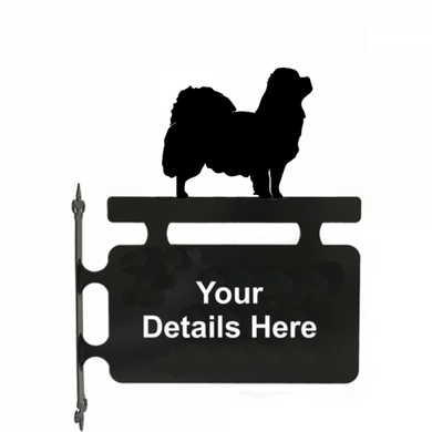 Tibetan Spaniel Hanging Sign - Attractive Metal Designs