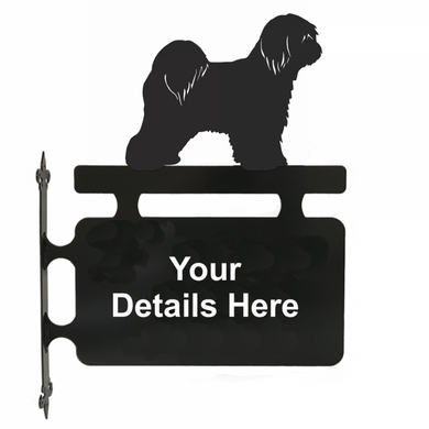 Tibetan Terrier Hanging Sign - Attractive Metal Designs