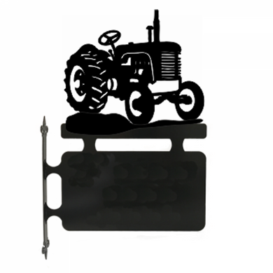 Tractor Hanging House Sign - Attractive Metal Designs