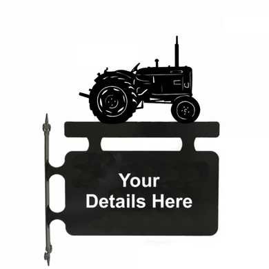 Tractor Nuffield Hanging Sign - Attractive Metal Designs