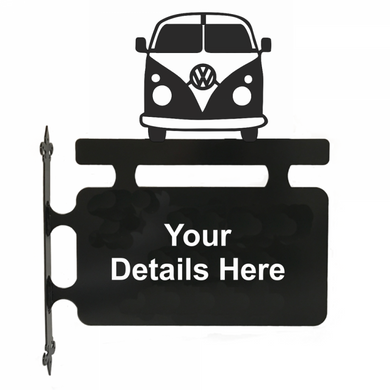 VW Camper Hanging Sign - Attractive Metal Designs