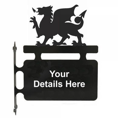 Welsh Dragon Hanging Sign - Attractive Metal Designs