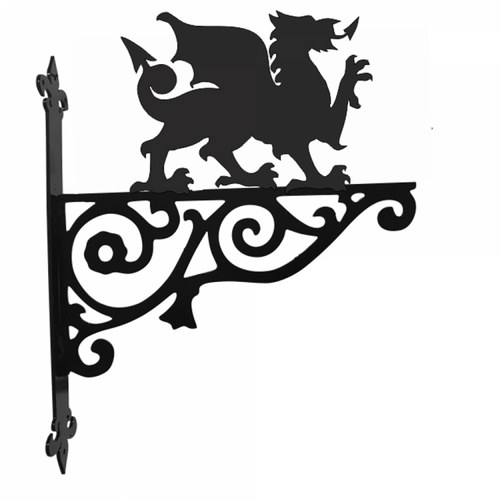 Welsh Dragon Garden Ornamental Metal Hanging Bracket - Attractive Metal Designs
