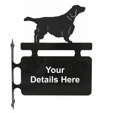Welsh Springer Spaniel Hanging Sign - Attractive Metal Designs