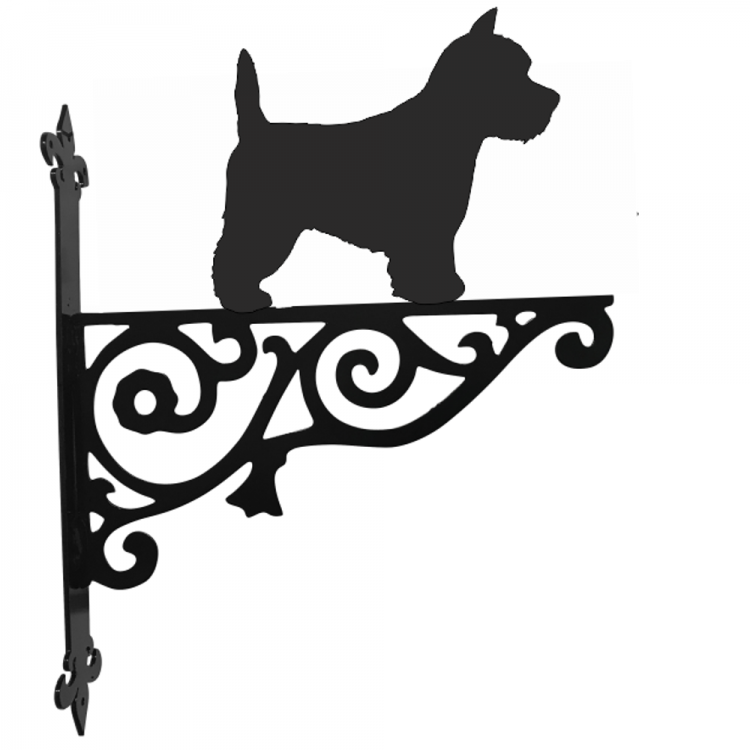 West Highland White Terrier Ornamental Metal Hanging Bracket - Attractive Metal Designs