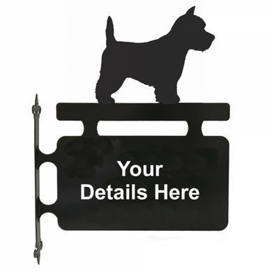 West Highland White Terrier Hanging Sign - Attractive Metal Designs