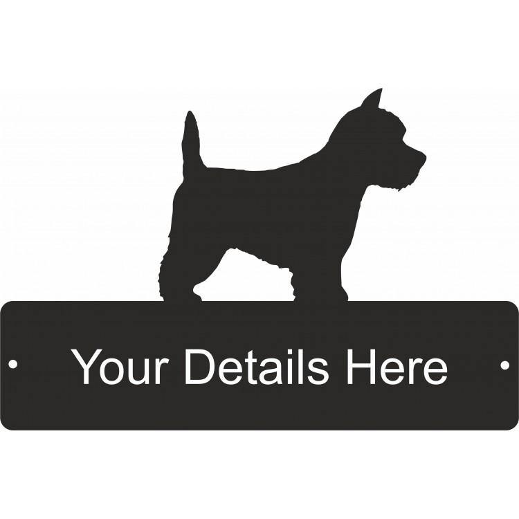 Westie Decorative Gate Plaque - Attractive Metal Designs