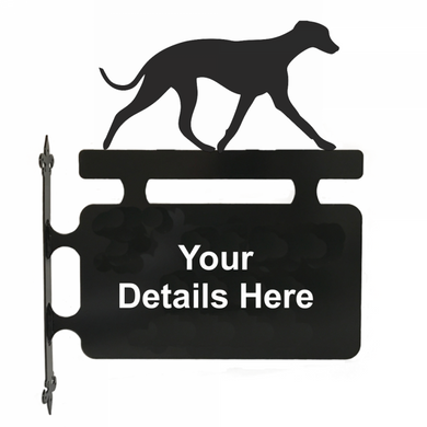 Whippet Hanging Sign - Attractive Metal Designs