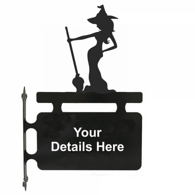 Witch Hanging Sign - Attractive Metal Designs