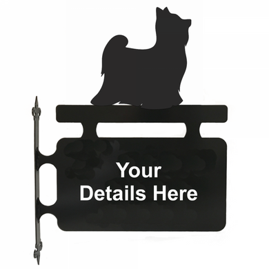 Yorkshire Terrier Hanging Sign - Attractive Metal Designs