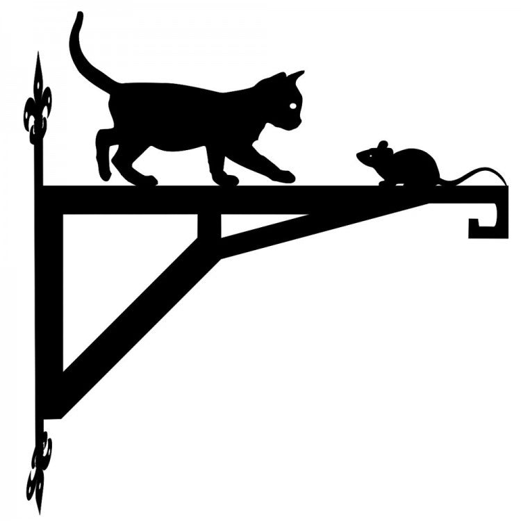 Cat and Mouse  Modern Metal Hanging Bracket