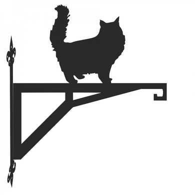 Persian Cat Standing Modern Metal Hanging Bracket - Attractive Metal Designs
