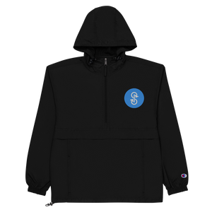 Blue Logo Champion Pullover