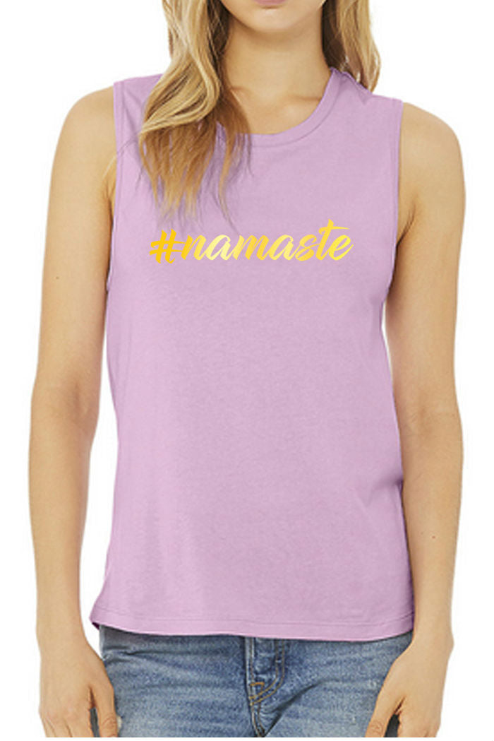 #namaste Muscle Tank (Gold Foil)