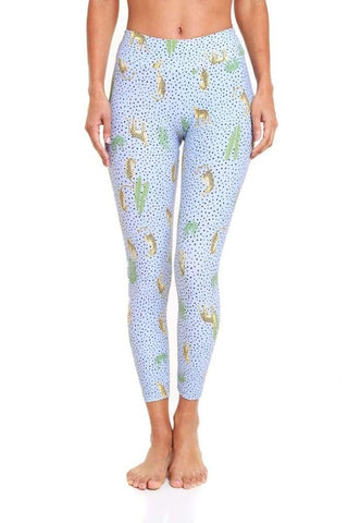 Pattern Legging - Dotted Jaguar *Restocks in Jan 2021