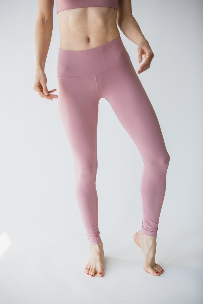 Madeline 7/8 Leggings - Ash Rose