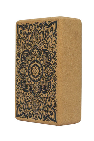 Mandala Black - Cork Block