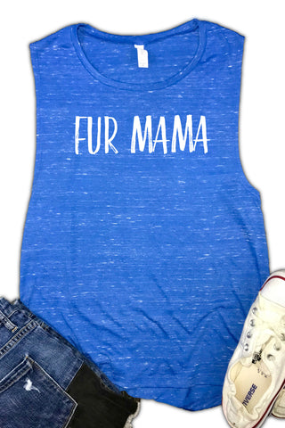 Fur Mama - Oxford Blue with White