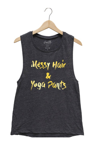 Messy Hair & Yoga Pants - Sable Black with Gold Shine