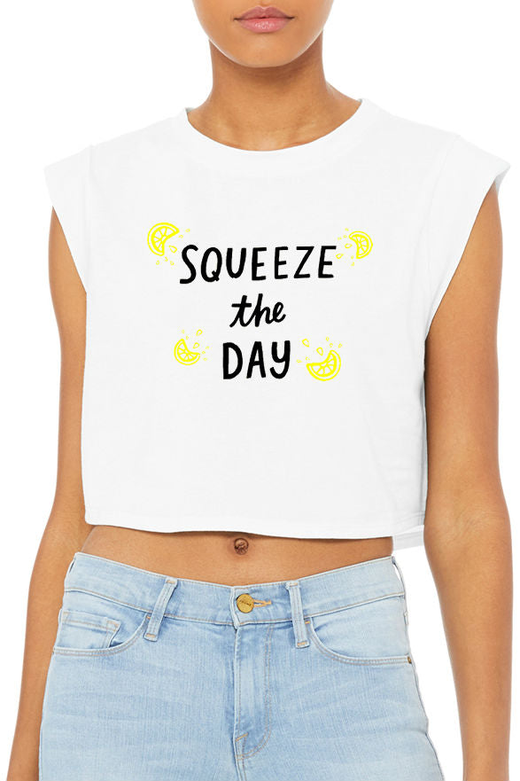 Squeeze The Day Crop Tank