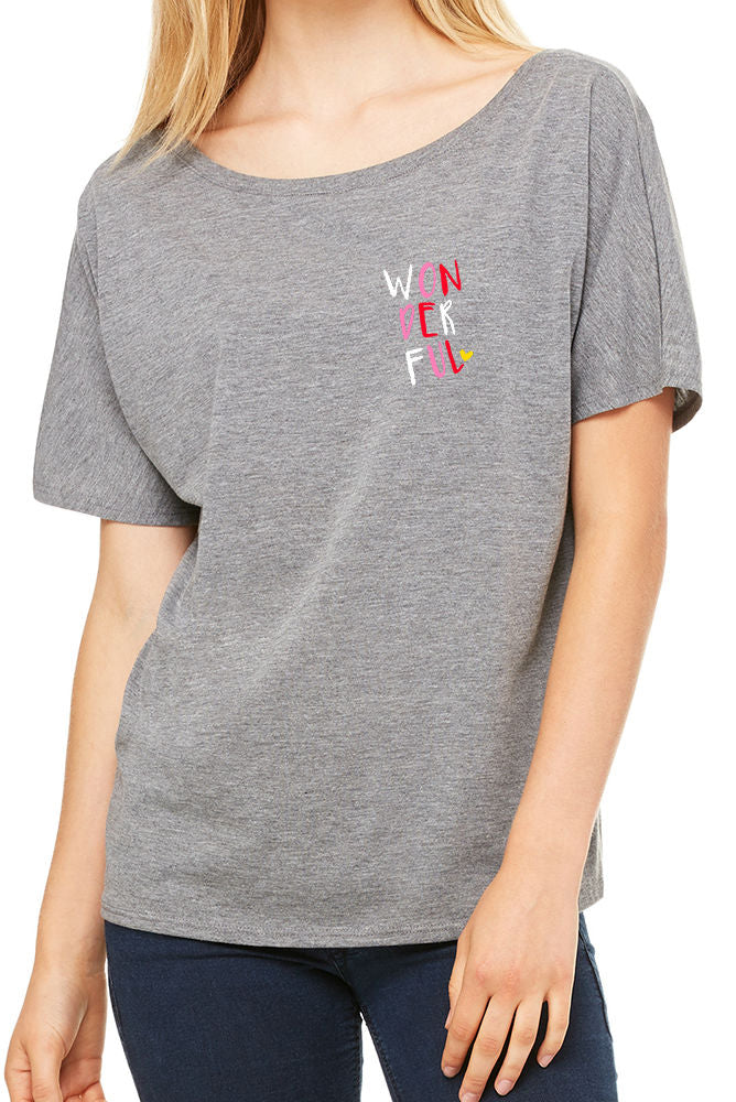 WONDERFUL Slouchy Tee (Gold Foil)