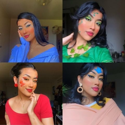 Bhadon Tithi in Avatar makeup looks