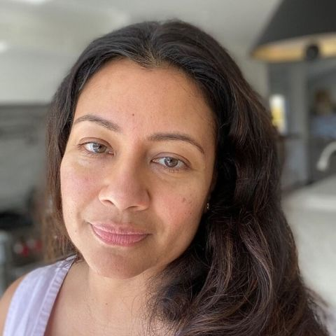 Gayatri Pradhan with glowing skin