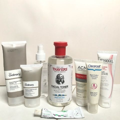Rameen Saad's skincare routine products