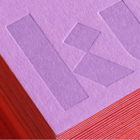 lavender and red Kulfi business card by Badal Patel