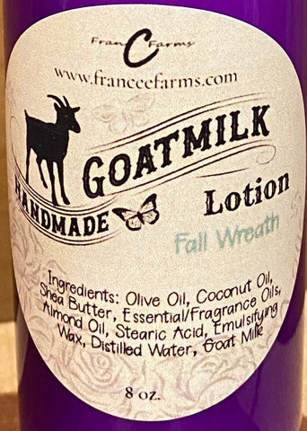 Fall Wreath Goat Milk Lotion