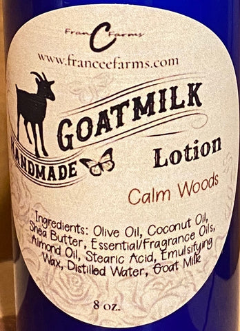 Calm Woods Goat Milk Lotion