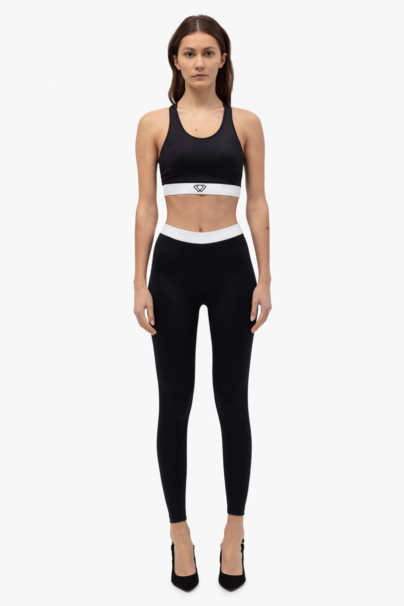 sustainable-legging-black/white-1 | Lumiere Paris