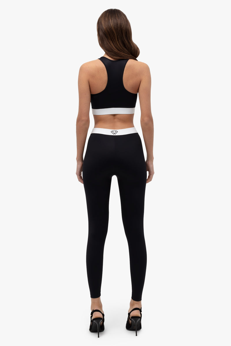 sustainable-legging-black/white-3 | Lumiere Paris