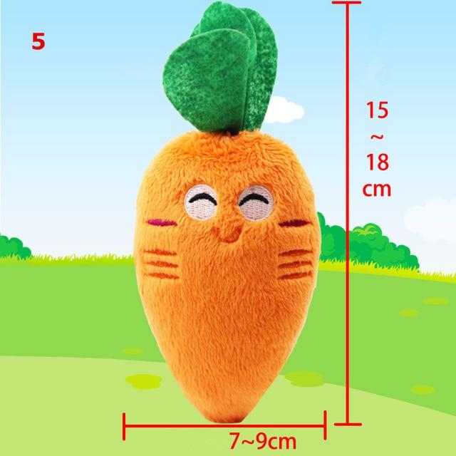 1Pc Pet toys Fruit Animals Cartoon Dog Toys Stuffed Squeaking Pet Toy Cute Plush Puzzle for Dogs Cat Chew Squeaker Squeaky Toy - Chewy Dog Treats LLC
