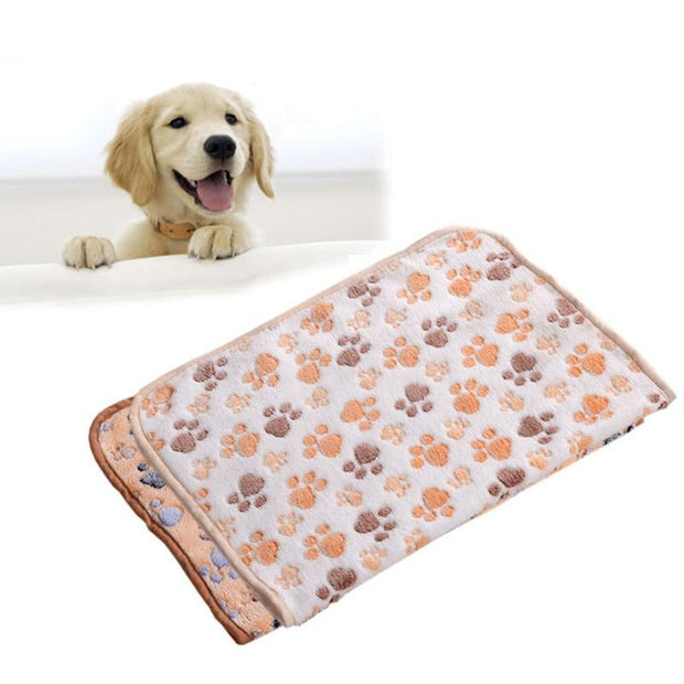Coral Velvet Paw Blanket - Chewy Dog Treats LLC