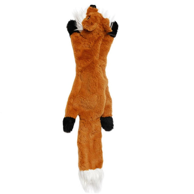 2019 New cute plush toys squeak pet wolf rabbit animal plush toy dog chew squeaky whistling involved squirrel dog toys - Chewy Dog Treats LLC
