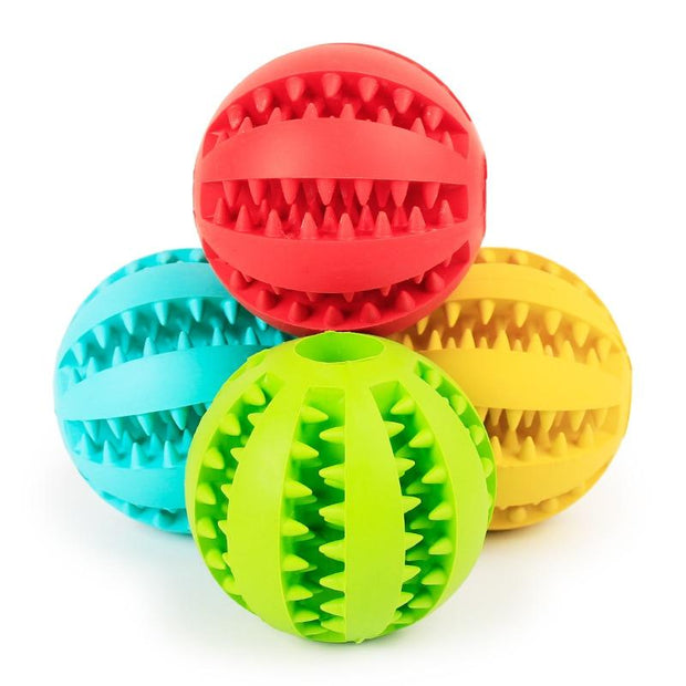 Tooth Cleaning Rubber Balls - Chewy Dog Treats LLC