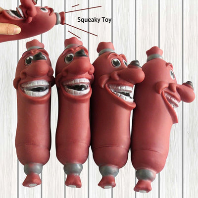 Pets Creative Squeaky Dog Toys Teeth Cleaning Funny Brown Pet Dog Chew Toy Rubber Sausage Dog Toy Squeakers Products Hot - Chewy Dog Treats LLC