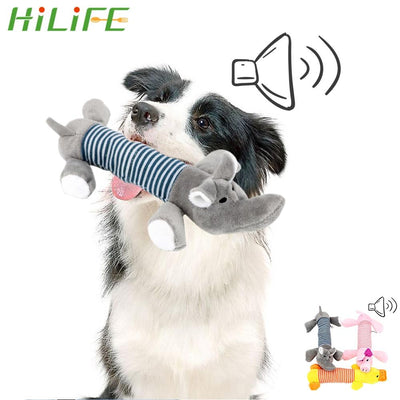 HILIFE Funny Plush Toys Dog Cat Fleece Toys Durability Squeak Chew Sound Dolls Elephant Duck Pig Fit for All Pets Pet Products - Chewy Dog Treats LLC