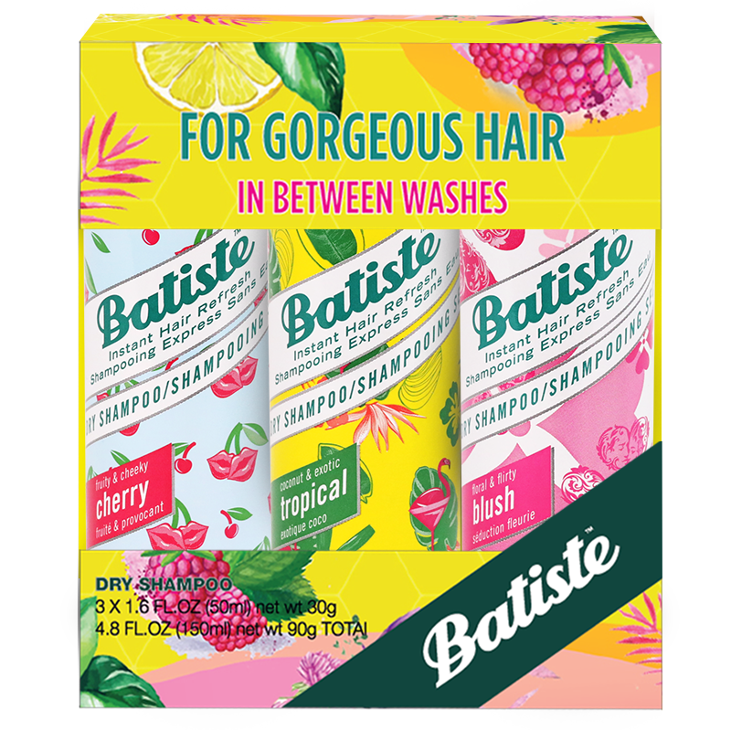 Batiste Dry Shampoo Value Kit Cherry, Tropical, Blush