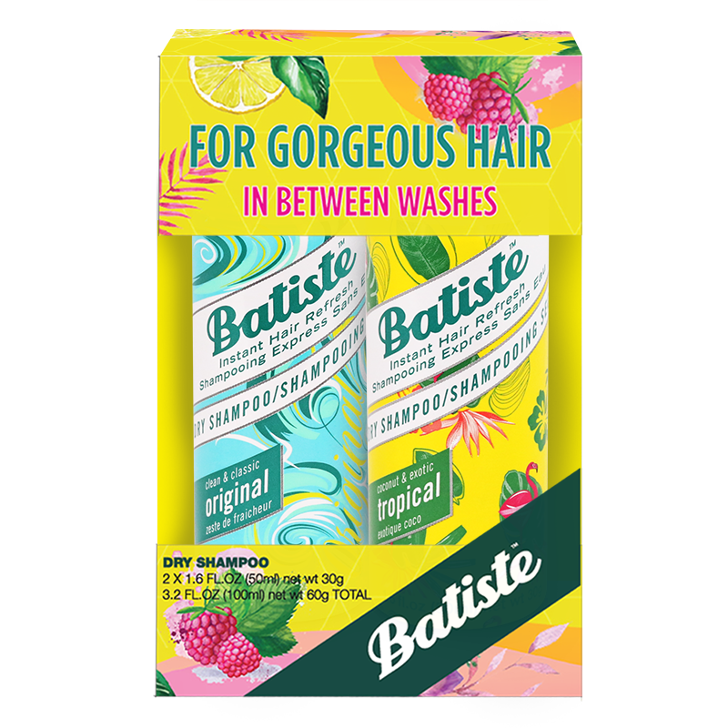 Batiste Dry Shampoo Value Kit Original, Tropical