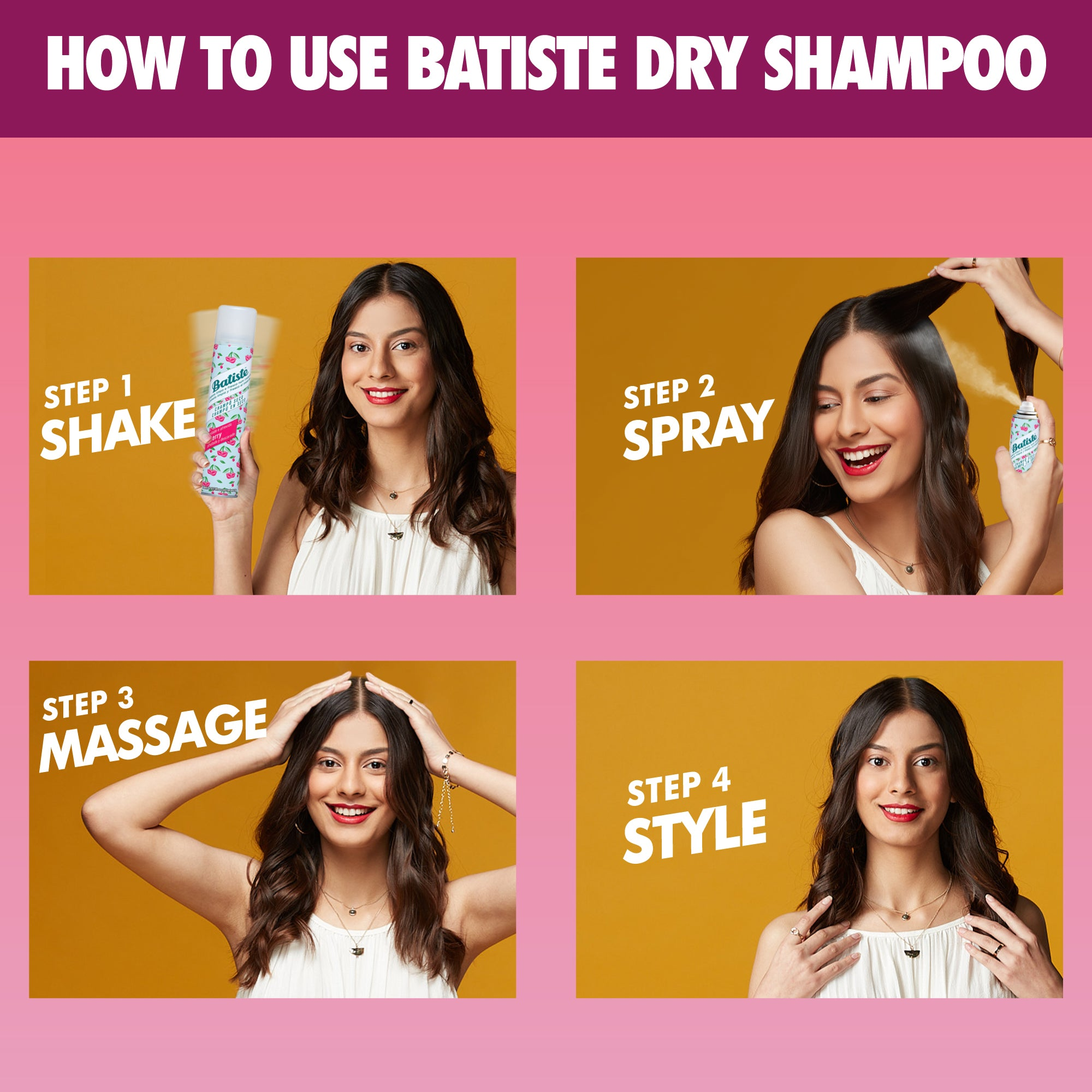 Batiste Dry Shampoo Fruity & Cheeky Cherry Mini