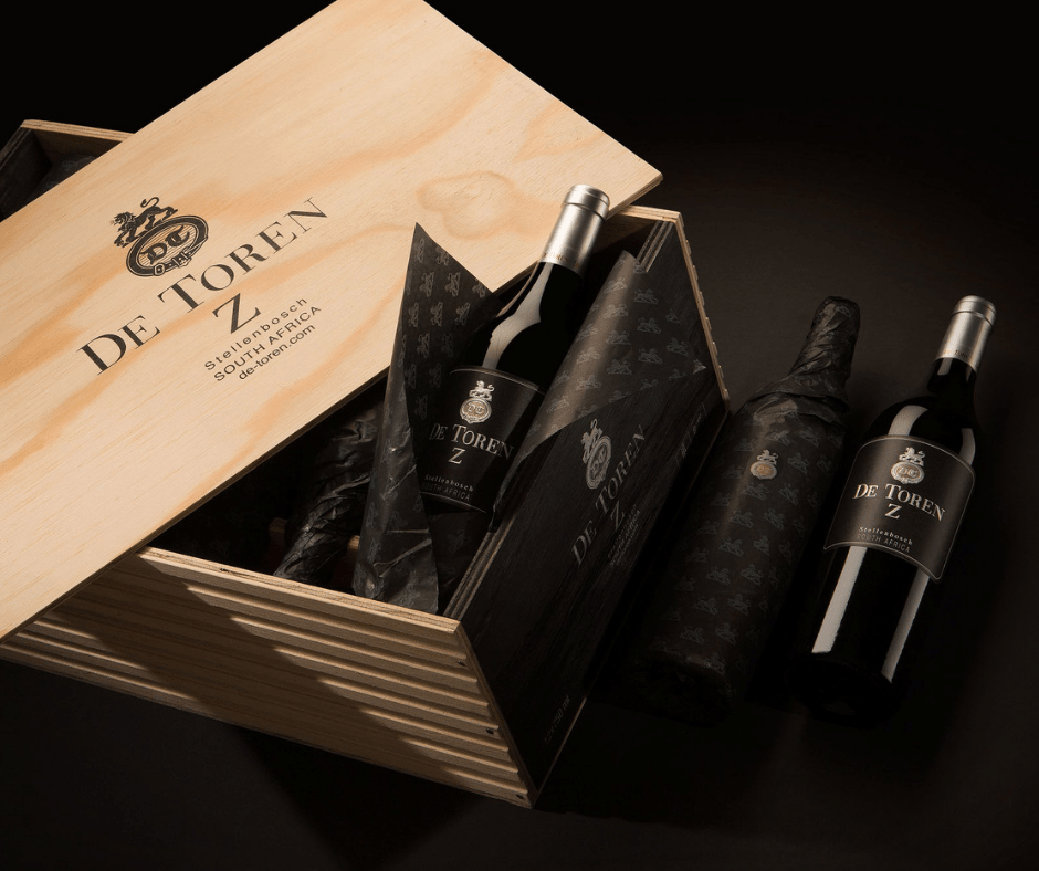 De Toren Z 2014 - Wooden 12 bottle presentation case south african wine - Brands From Africa