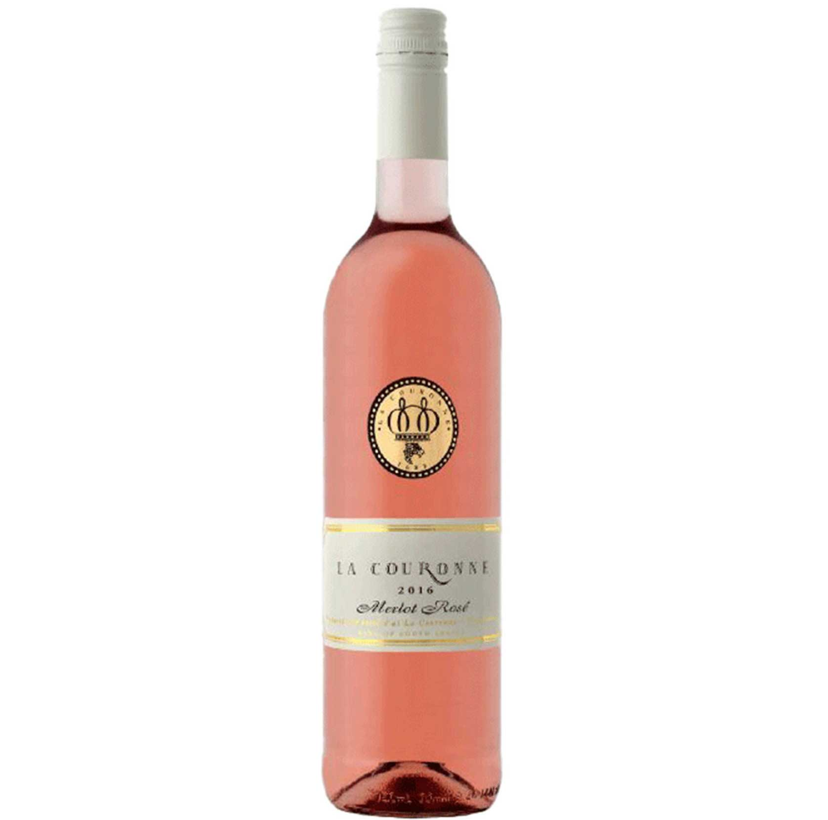 Rose La Couronne Merlot Rosé 2018 south african wine - Brands From Africa