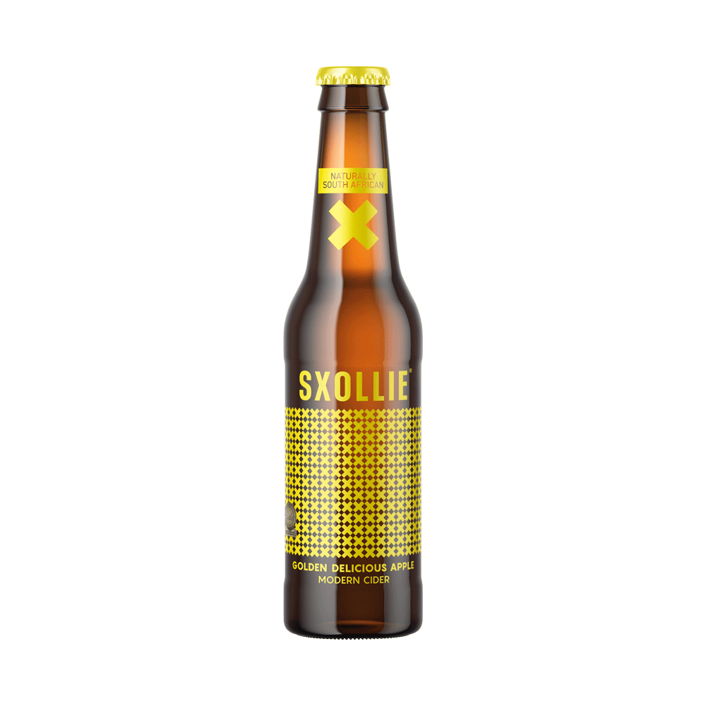 Sxollie Cider Golden Delicious 8 x 330ml south african wine - Brands From Africa